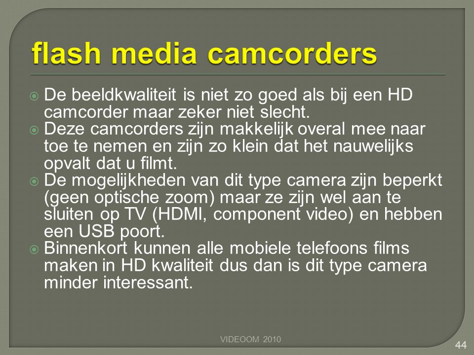 flash media camcorders