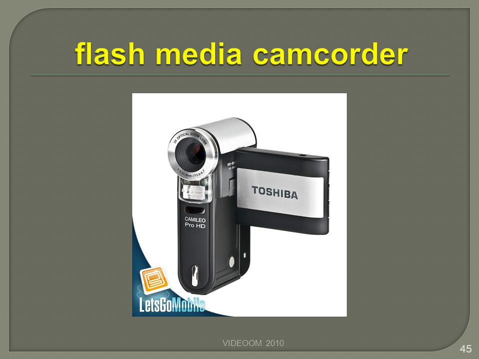 flash media camcorder VIDEOOM 2010
