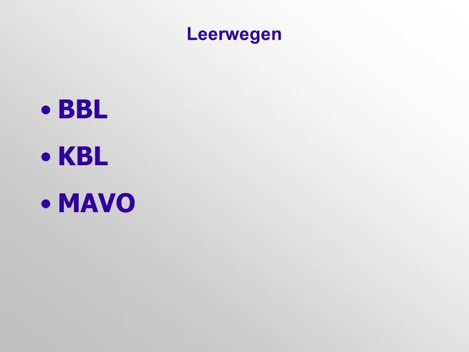 Leerwegen BBL. KBL. MAVO.