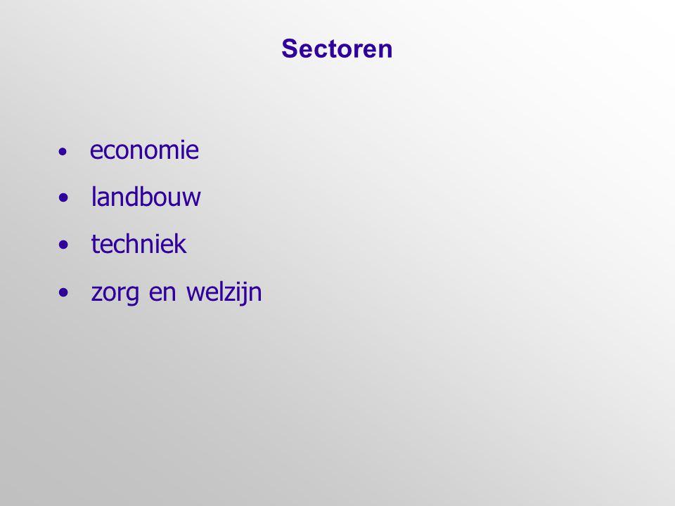 Sectoren landbouw techniek zorg en welzijn economie 14
