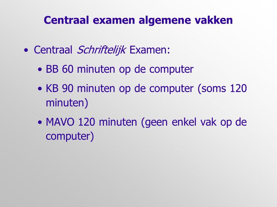 Centraal examen algemene vakken