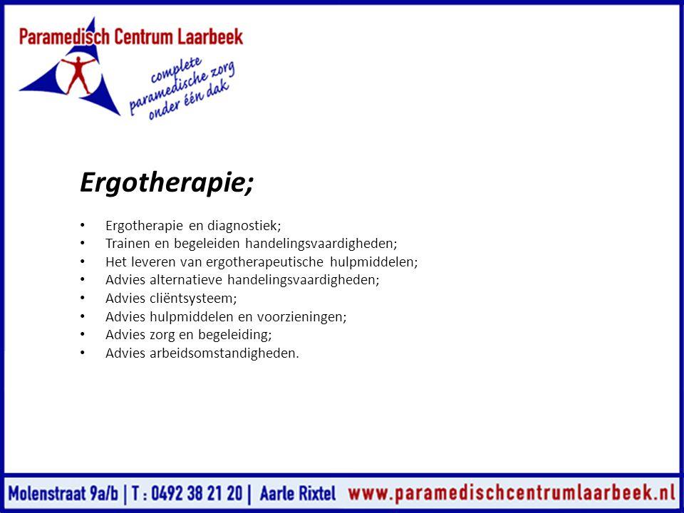 Ergotherapie; Ergotherapie en diagnostiek;