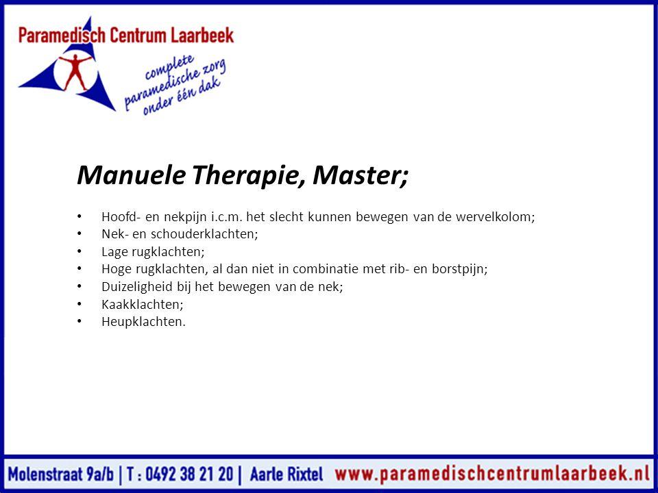 Manuele Therapie, Master;