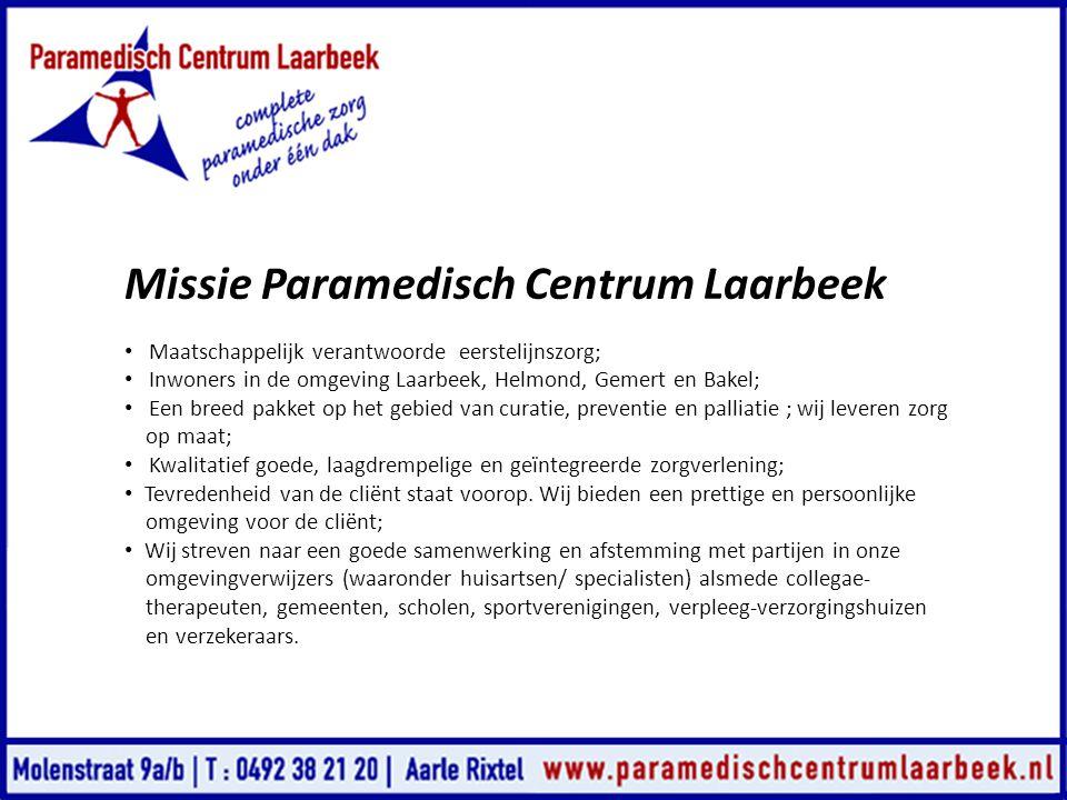 Missie Paramedisch Centrum Laarbeek