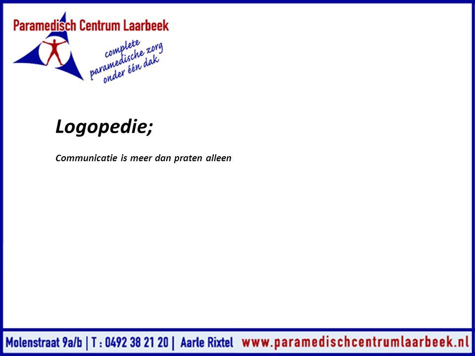 Logopedie; Communicatie is meer dan praten alleen