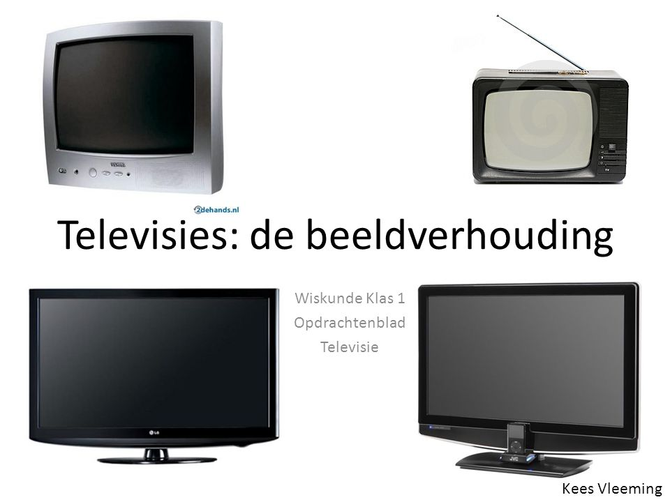 Televisies: de beeldverhouding