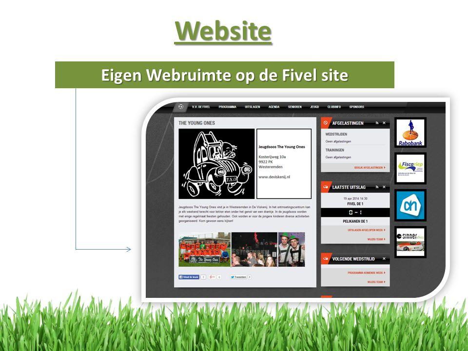 Eigen Webruimte op de Fivel site