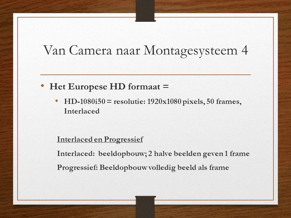 Van Camera naar Montagesysteem 4