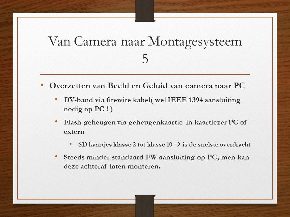 Van Camera naar Montagesysteem 5