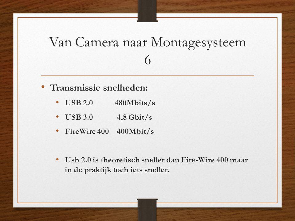 Van Camera naar Montagesysteem 6