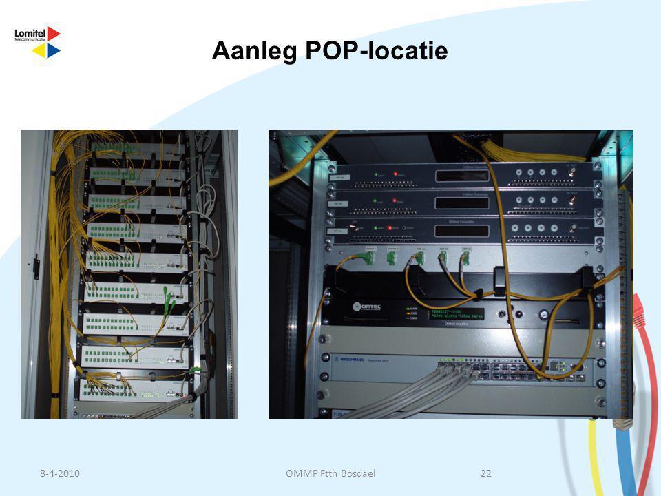 Aanleg POP-locatie 8-4-2010 OMMP Ftth Bosdael