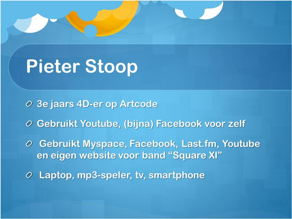 Pieter Stoop 3e jaars 4D-er op Artcode