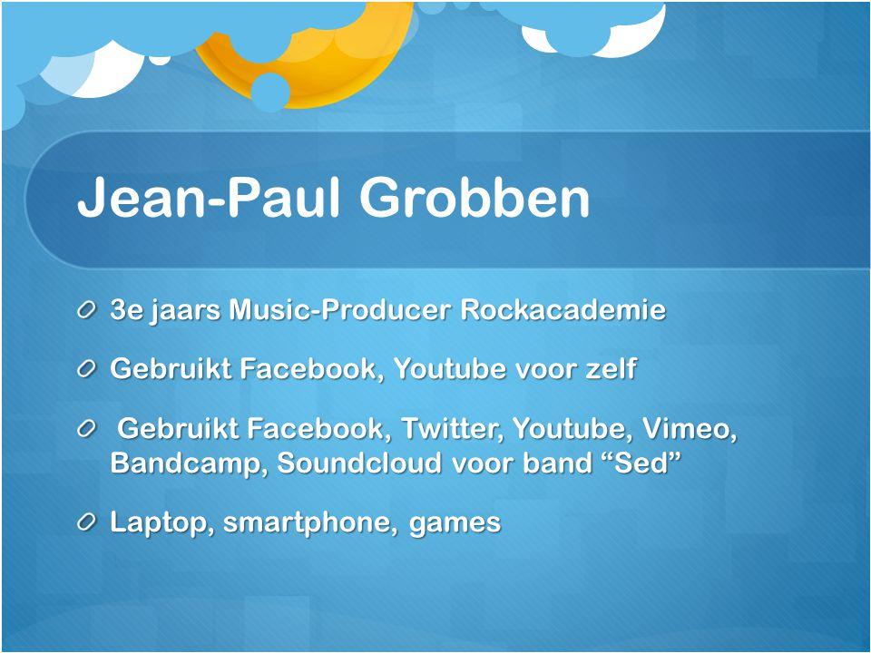 Jean-Paul Grobben 3e jaars Music-Producer Rockacademie