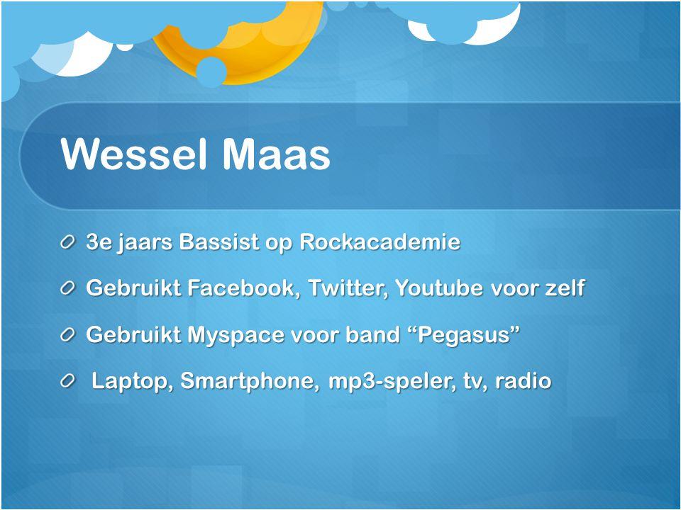 Wessel Maas 3e jaars Bassist op Rockacademie