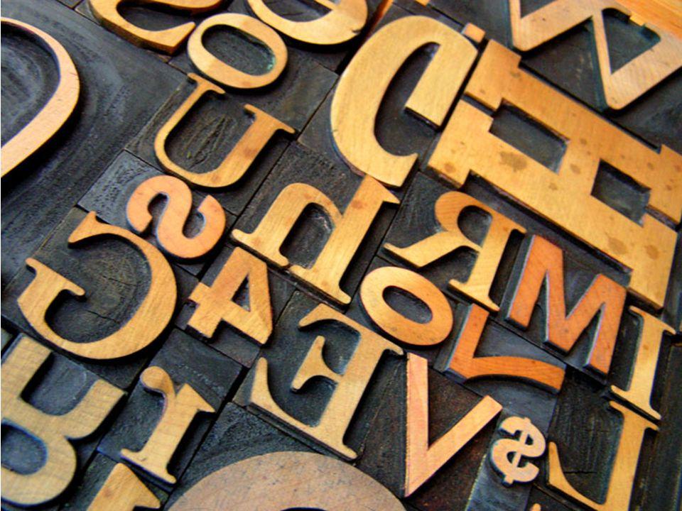 Boekdrukkunst: houten letters