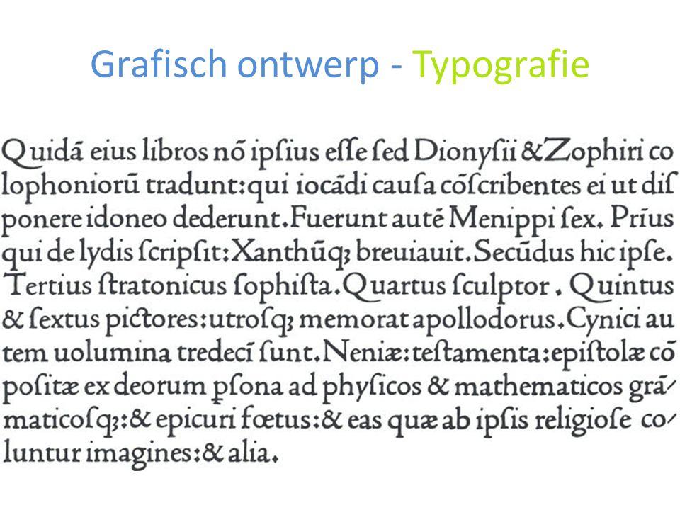 Grafisch ontwerp - Typografie