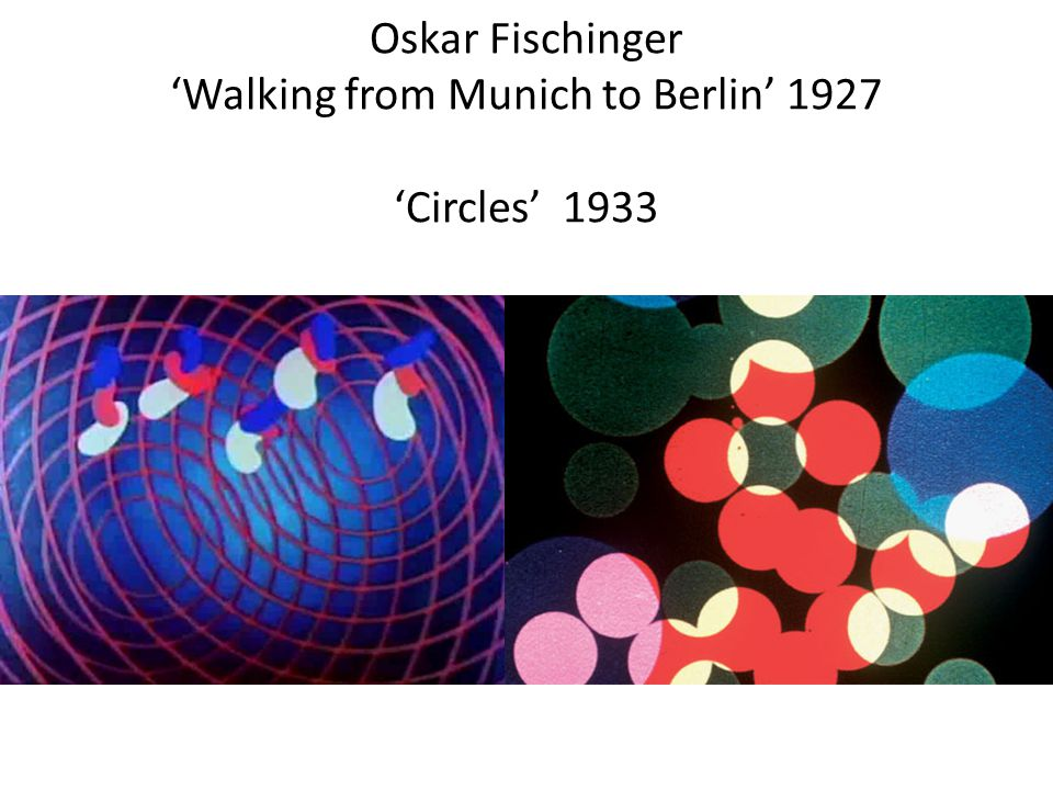 Oskar Fischinger 'Walking from Munich to Berlin' 1927 'Circles' 1933