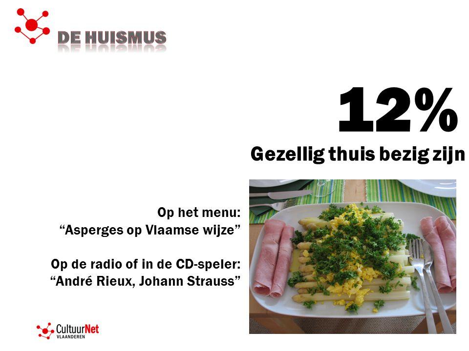 12% Gezellig thuis bezig zijn De HUISMUS Op het menu: