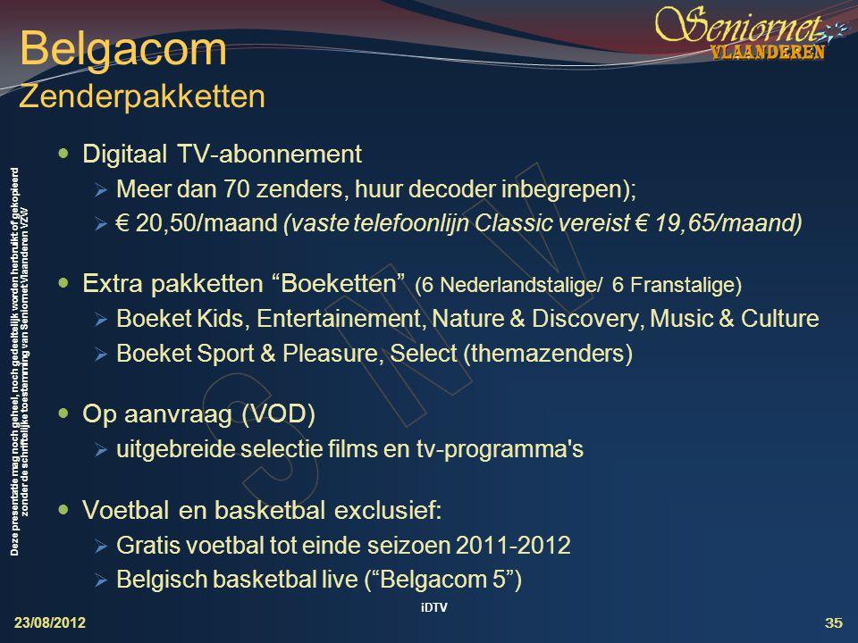 Belgacom Zenderpakketten