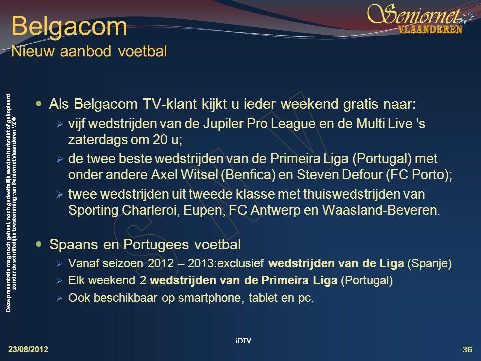Belgacom Nieuw aanbod voetbal