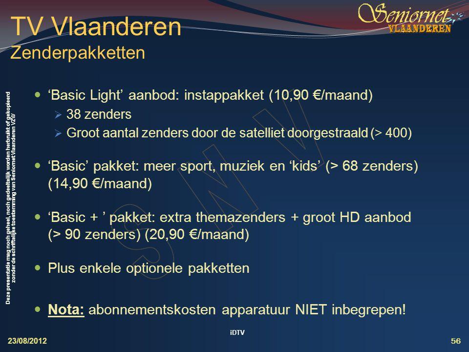 TV Vlaanderen Zenderpakketten