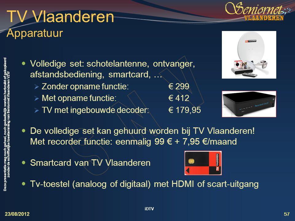 TV Vlaanderen Apparatuur