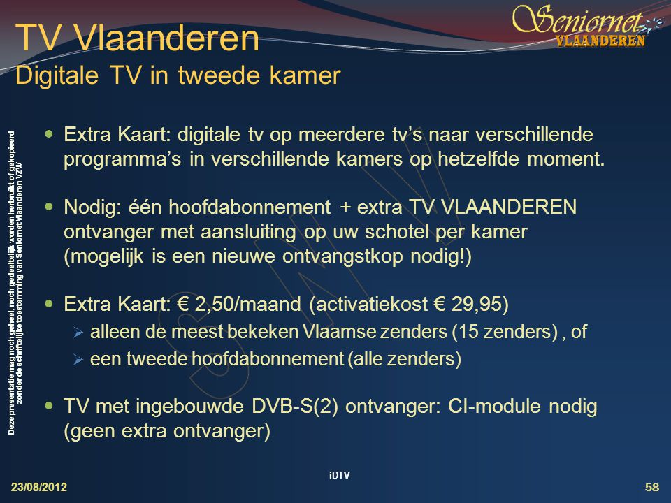 TV Vlaanderen Digitale TV in tweede kamer