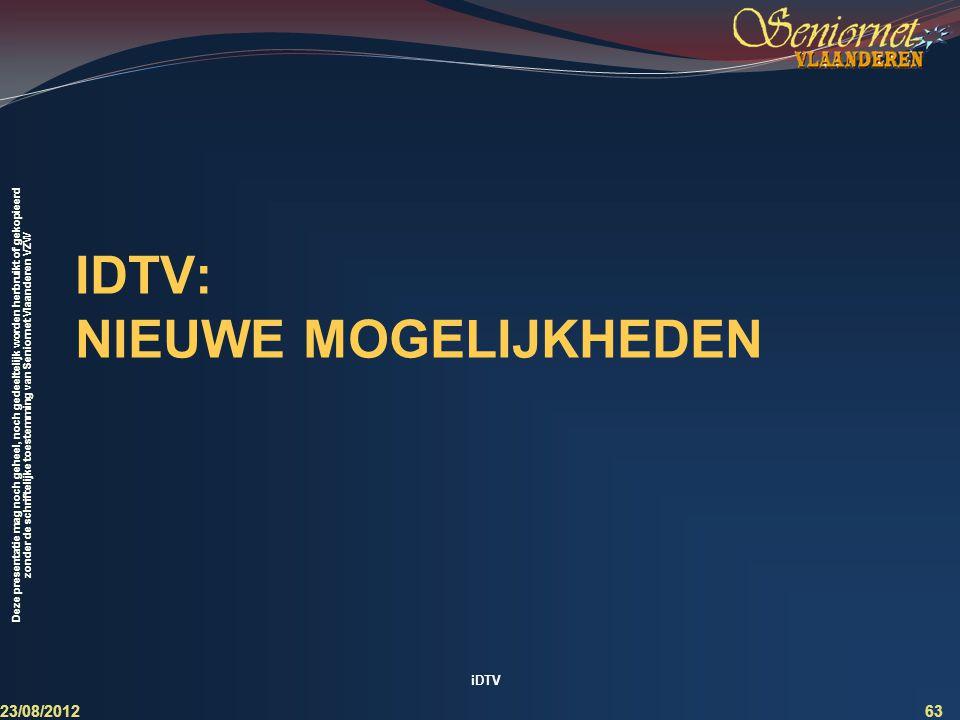 iDTV: nieuwe mogelijkheden