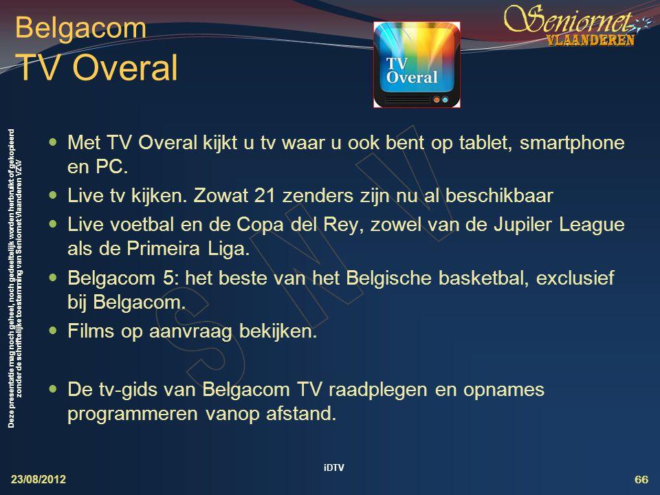 Interactieve Digitale TeleVisie (iDTV)