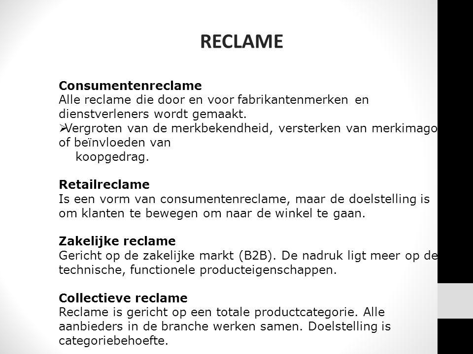 RECLAME Consumentenreclame
