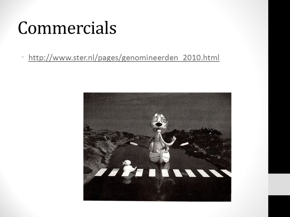 Commercials http://www.ster.nl/pages/genomineerden_2010.html