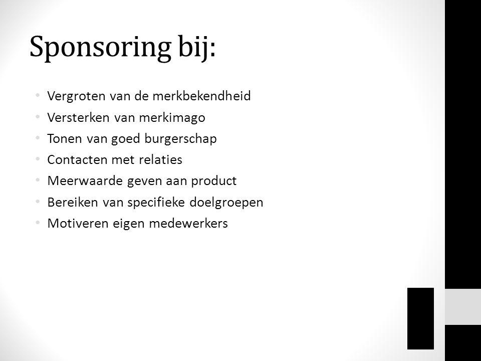 Sponsoring bij: Vergroten van de merkbekendheid
