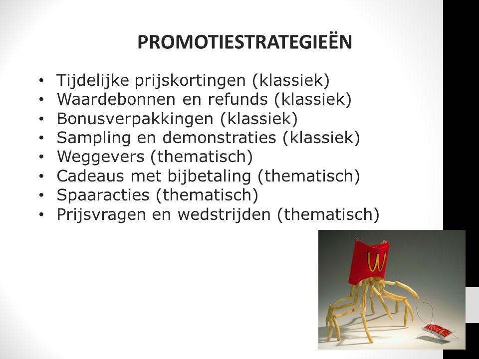 PROMOTIESTRATEGIEËN Tijdelijke prijskortingen (klassiek)