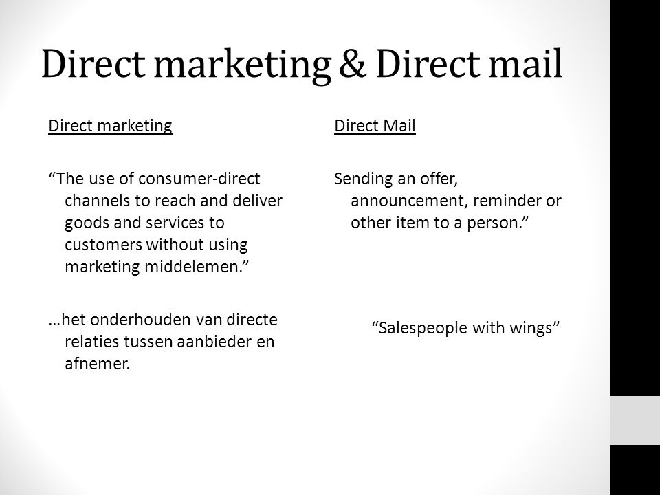 Direct marketing & Direct mail