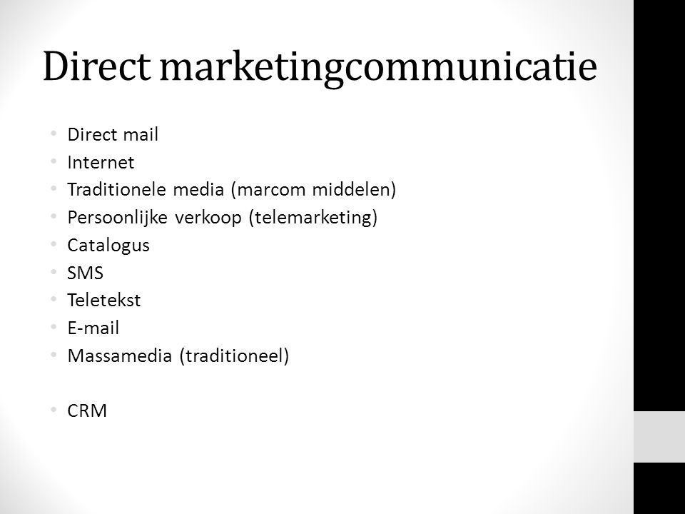 Direct marketingcommunicatie
