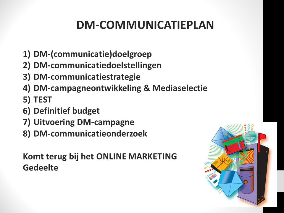 DM-COMMUNICATIEPLAN DM-(communicatie)doelgroep