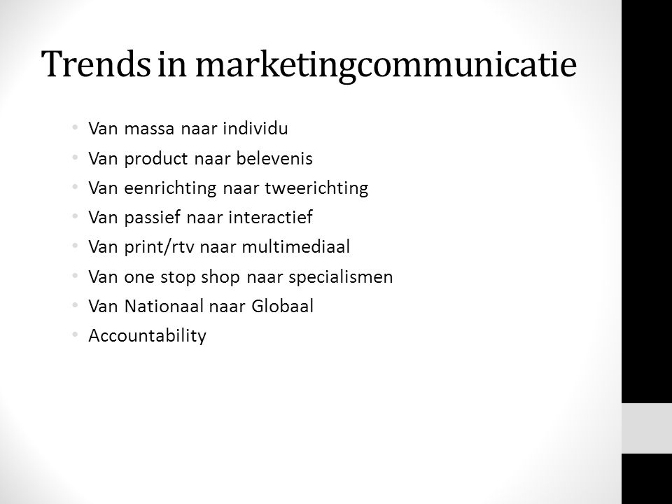 Trends in marketingcommunicatie