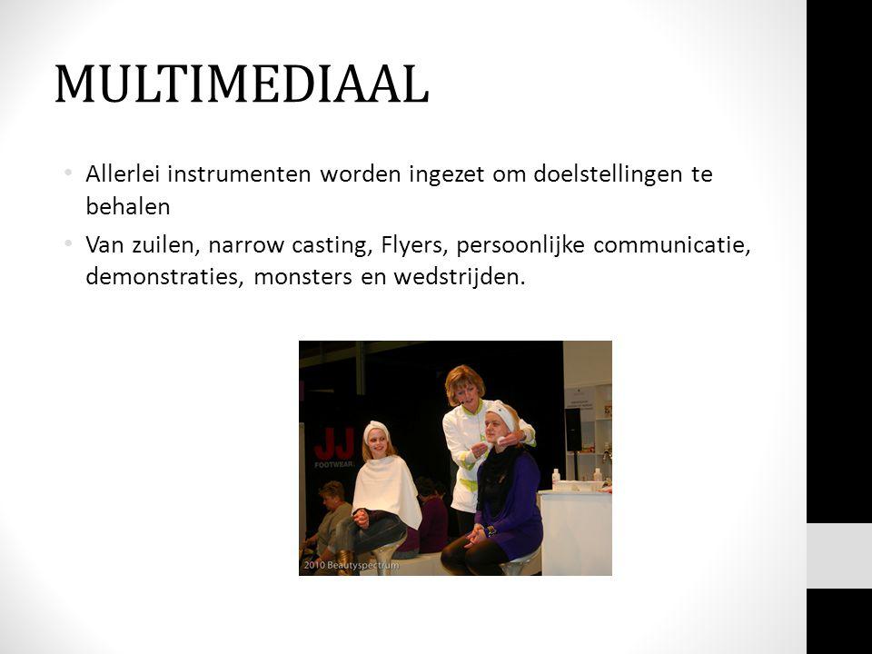 MULTIMEDIAAL Allerlei instrumenten worden ingezet om doelstellingen te behalen.