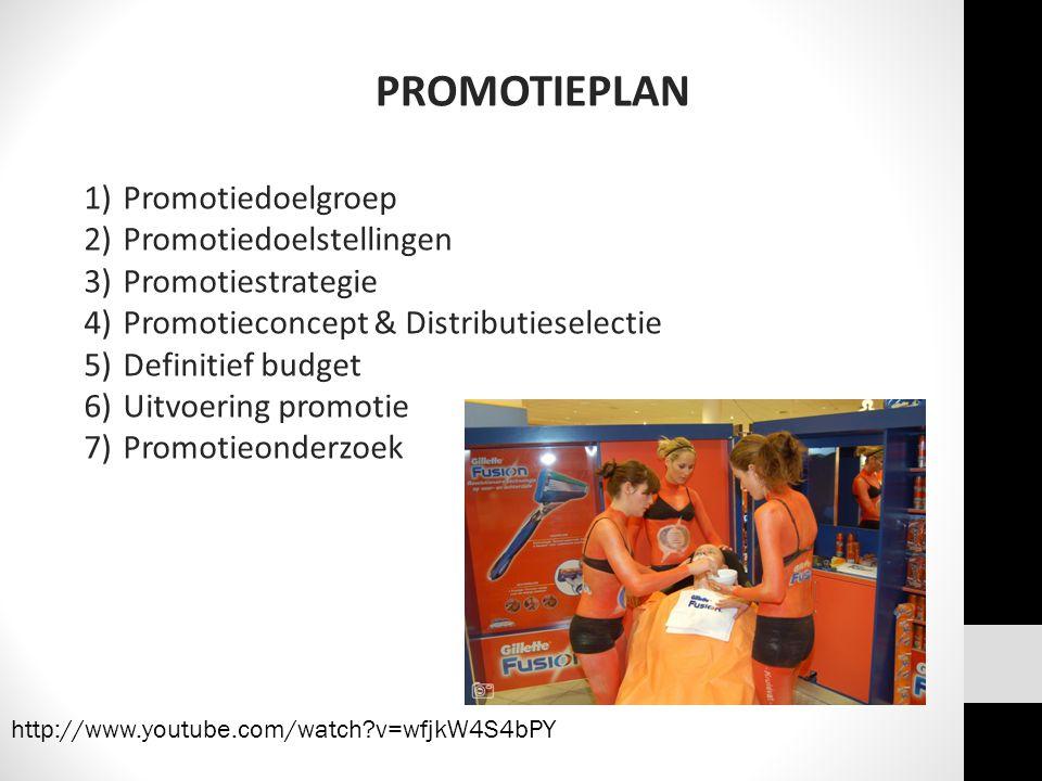 PROMOTIEPLAN Promotiedoelgroep Promotiedoelstellingen