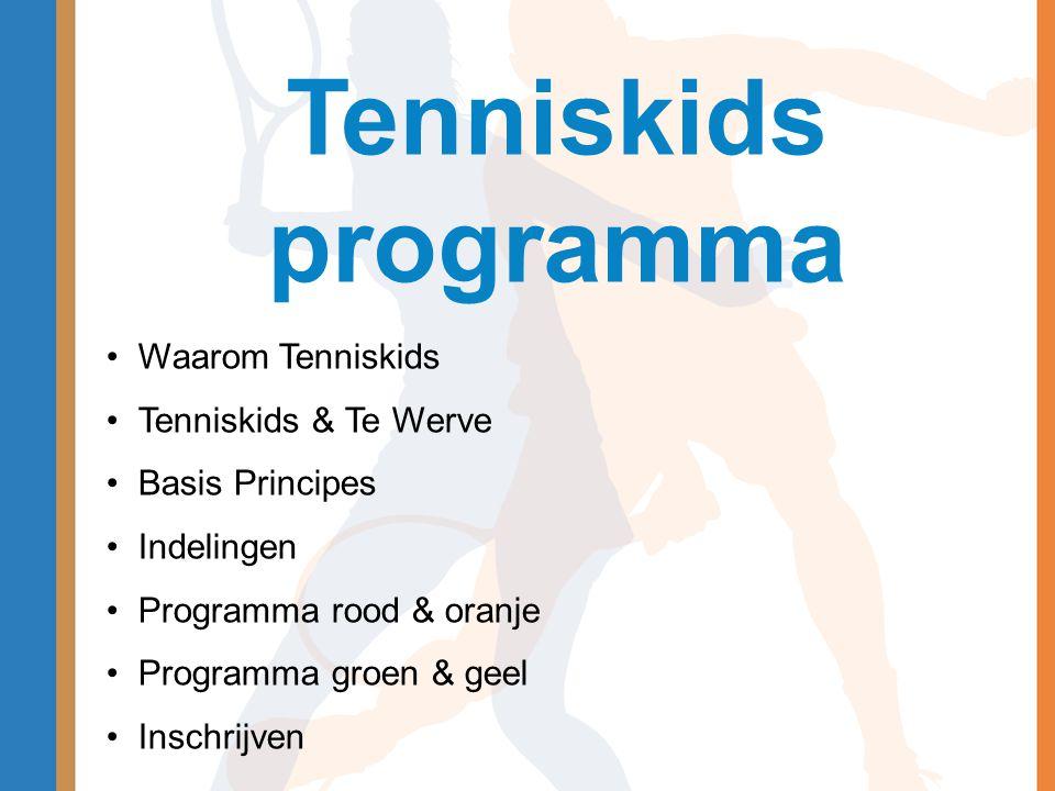 Tenniskids programma Waarom Tenniskids Tenniskids & Te Werve