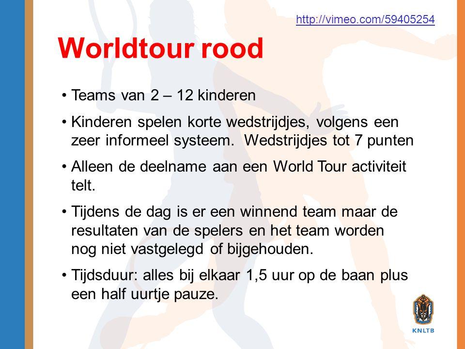 Worldtour rood Teams van 2 – 12 kinderen