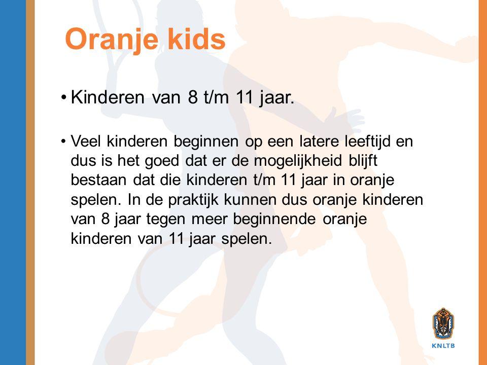 Oranje kids Kinderen van 8 t/m 11 jaar.