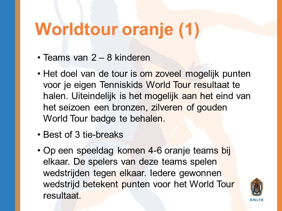 Worldtour oranje (1) Teams van 2 – 8 kinderen