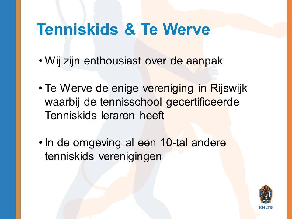 Tenniskids & Te Werve Wij zijn enthousiast over de aanpak
