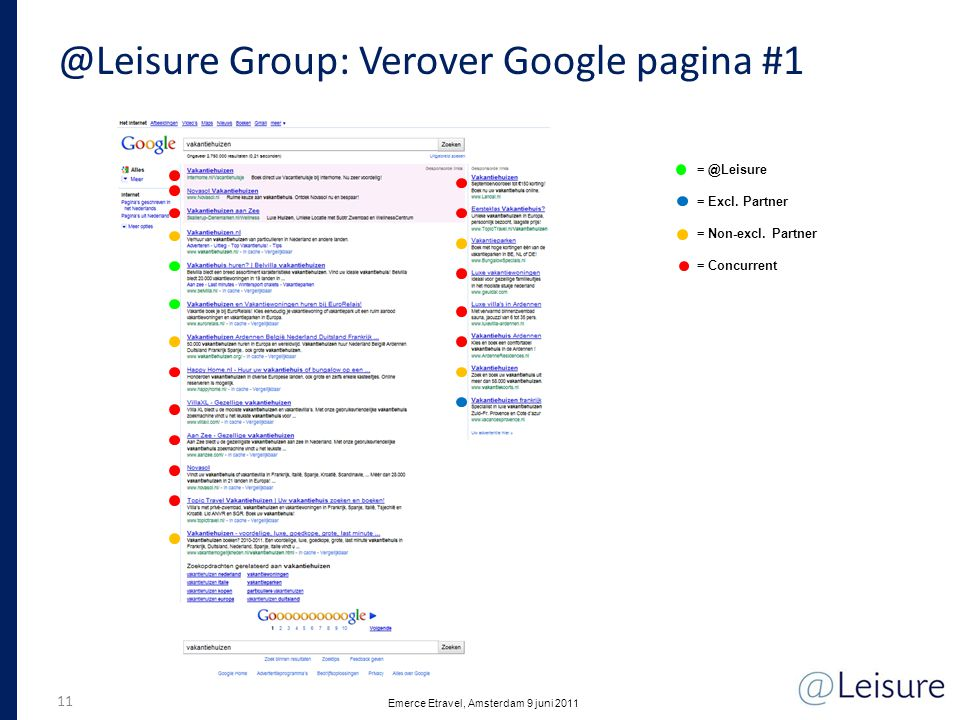 @Leisure Group: Verover Google pagina #1