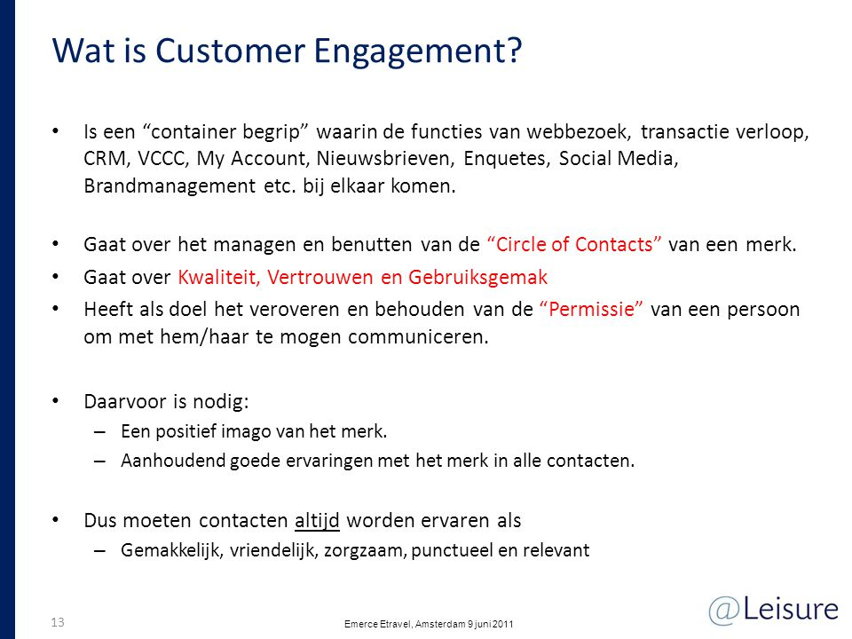 Wat is Customer Engagement