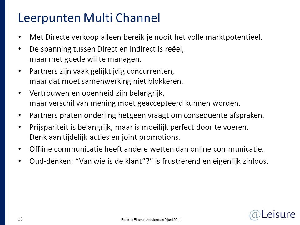 Leerpunten Multi Channel