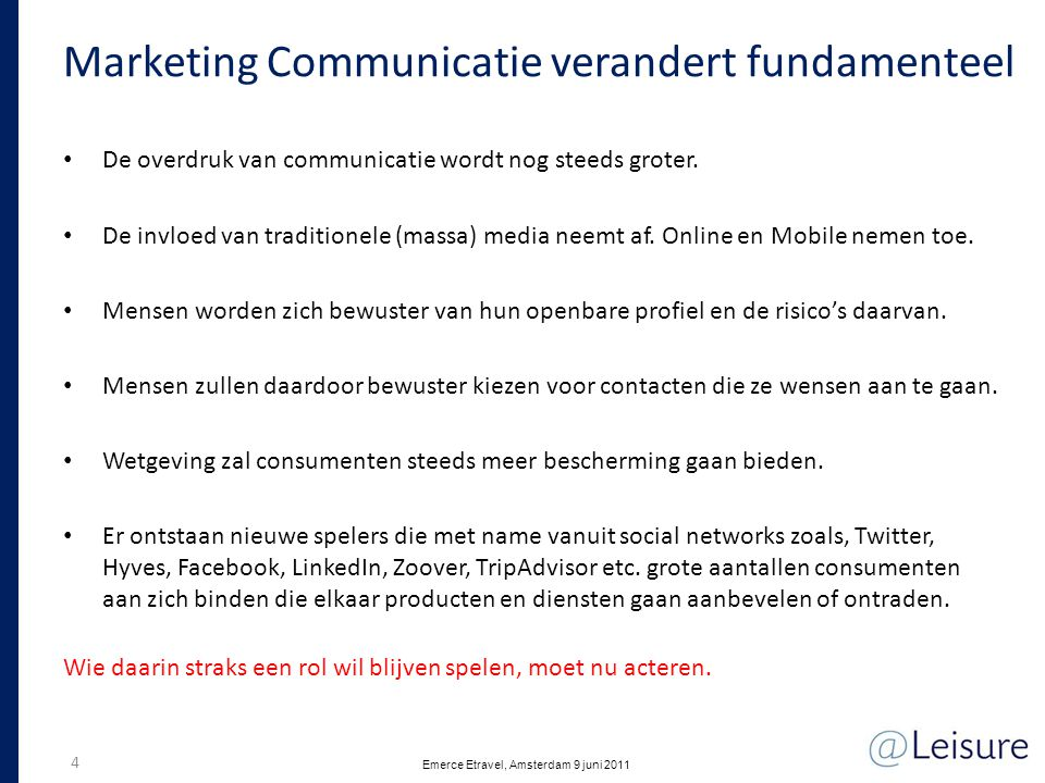 Marketing Communicatie verandert fundamenteel