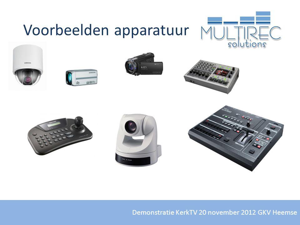 Voorbeelden apparatuur