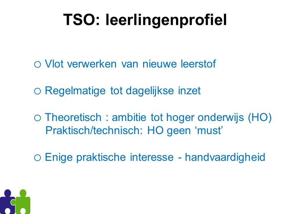 TSO: leerlingenprofiel